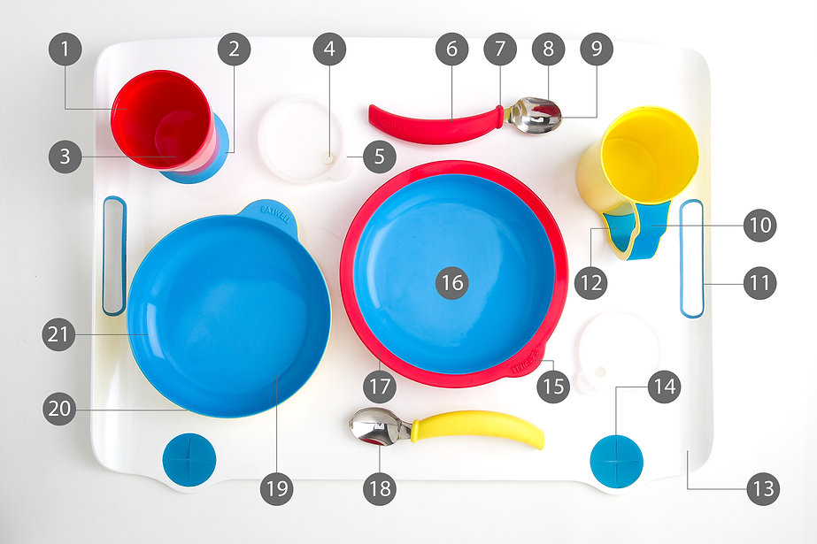 There are more than 20 features in each Eatwell independent eating devices