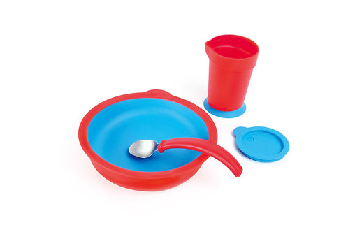 4-piece Eatwell assistive tableware set in Red