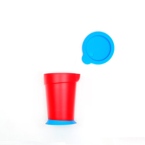 Eatwell anti-tipping & slipping cup in Red