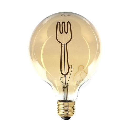Lampadina led globo E27 filamento forchetta dimmerabile a luce caldaLampadina l