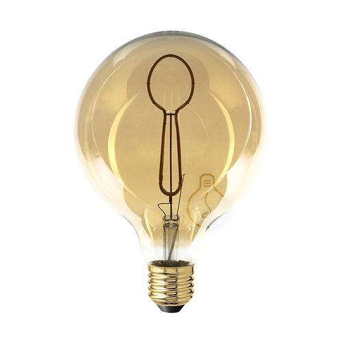 LAMPADINA LED GLOBO E27 FILAMENTO FORCHETTA DIMMERABILE A LUCE CALDA