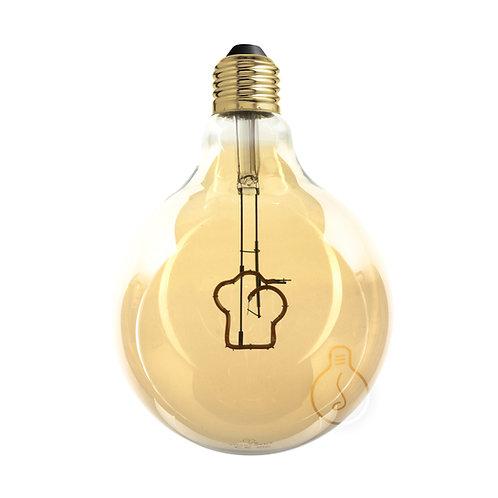 LAMPADINA LED GLOBO E27 FILAMENTO CAPPELLO DA CHEF DIMMERABILE A LUCE CALDA