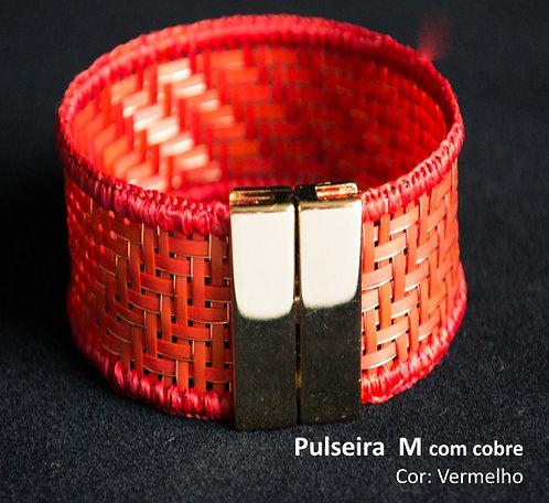 Pulseira Arumã e Cobre Vermelha M