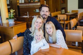 Karl Strauss mit Familie