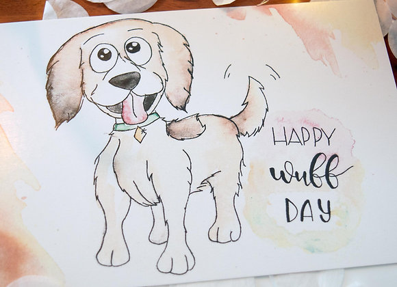 "Geburtstagskarte ""Happy Wuff Day"""