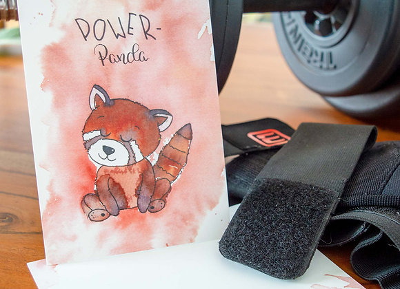 "Motivkarte ""Power-Panda"""
