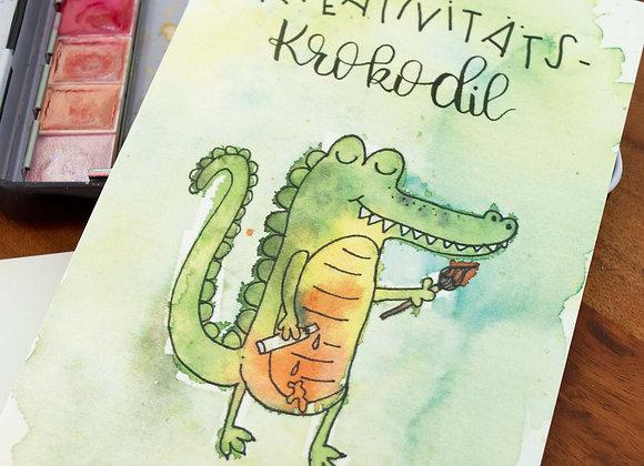 """Motivkarte """"Kreativitäts-Krokodil"""""""