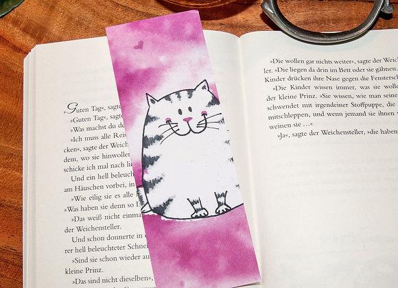 Lesezeichen Happy Pink Cat