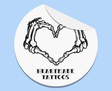 Sticker Heartmade Tatoos
