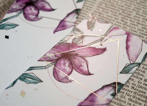 Lesezeichen Blumenranken