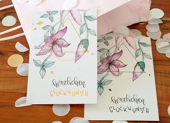 """Glückwunschkarte """"Blumenranken"""""""