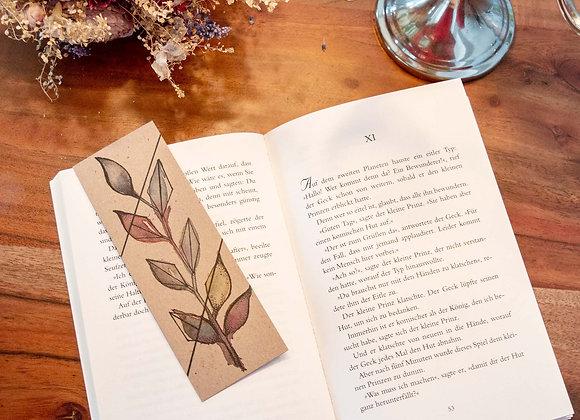 Lesezeichen bunte Blätter