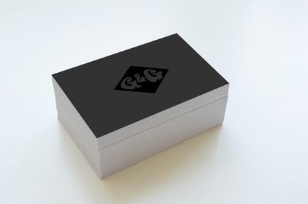 Visitenkarten Softtouchfolie, part. UV-Lack