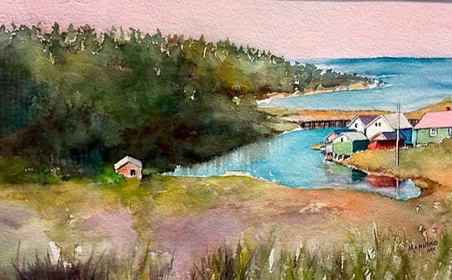 Into an Inlet, watercolor by Manning McCandish