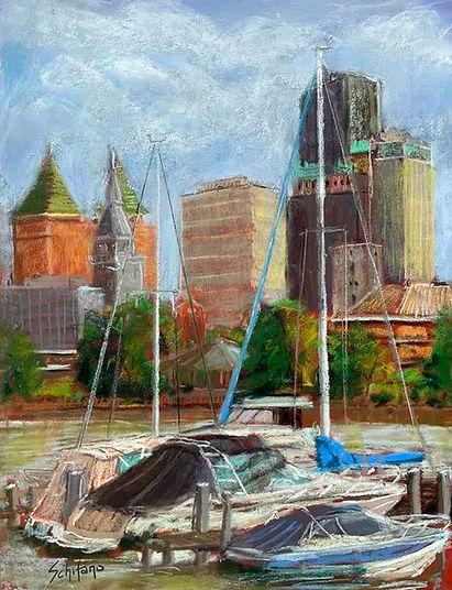 Buffalo Marina and Skyline by Kath Schifano