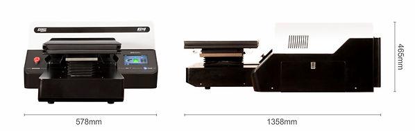 DTG G4 pólónyomtató gép méret paraméterekkel