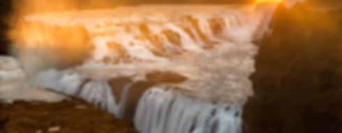 Gullfoss waterfall during sunrise. Gullfoss waterfall is part of our Golden circle day tour.