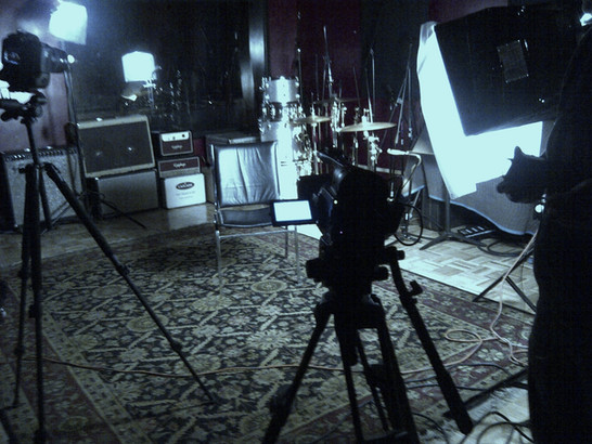 Behind the Scenes lighting and camera set up