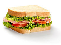 Image of a white bread sandwich