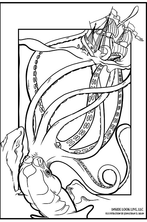 The Kraken Coloring Page