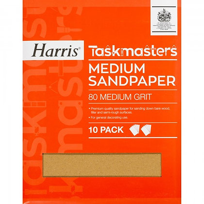 Taskmasters Medium Sandpaper 10 Pack