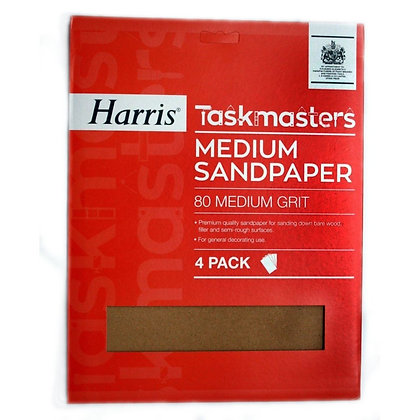 Taskmasters Medium Sandpaper 4 Pack