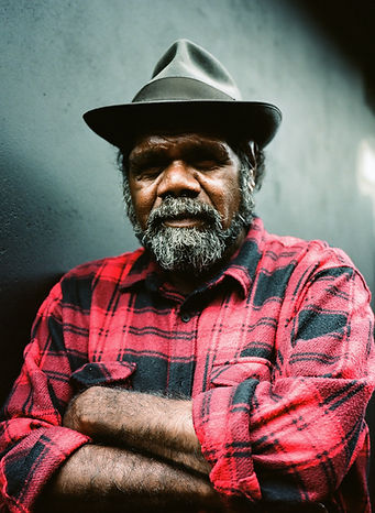 Frank Yamma photographed by Ali MC at Wantok Christmas party 2018