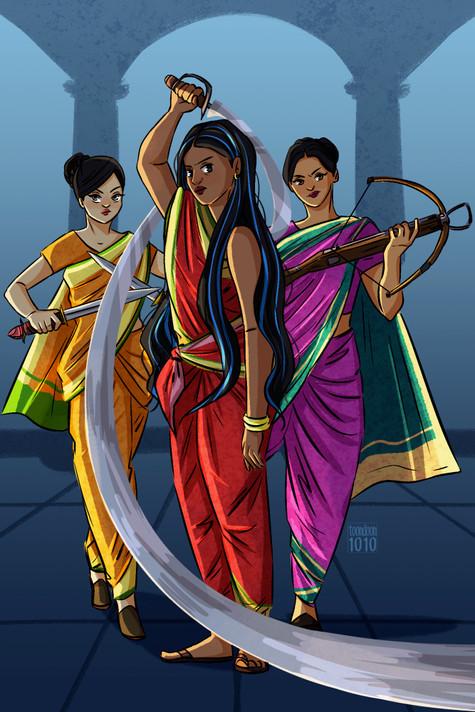 Kali, Juhi & Amira