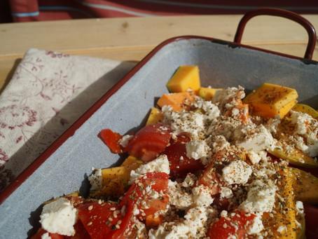 Orange-gelb-rotes Herbst-Seelenfutter: schnelles, einfaches Gemüsegericht