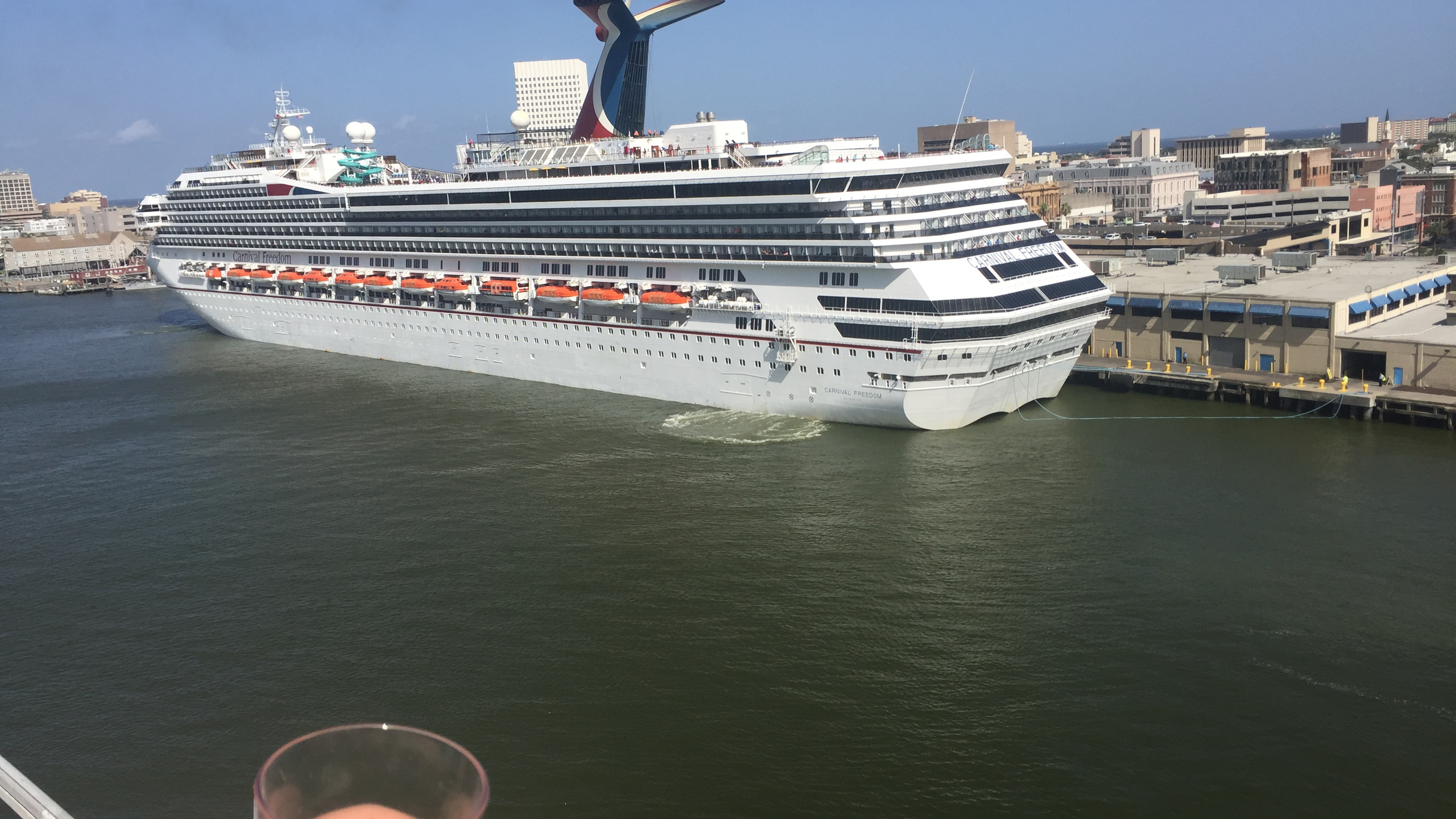 Heading out with Carnival Freedom.