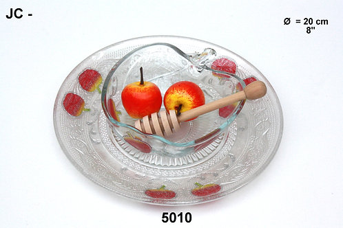 GLASS HONEY DISH
