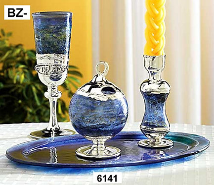 GLASS AND SILVER HAVDALAH SET