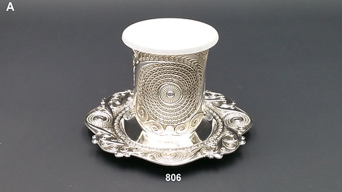 NICKLE FINISH KIDDUSH CUP