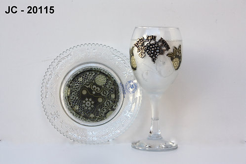 GLASS KIDDUSH CUP
