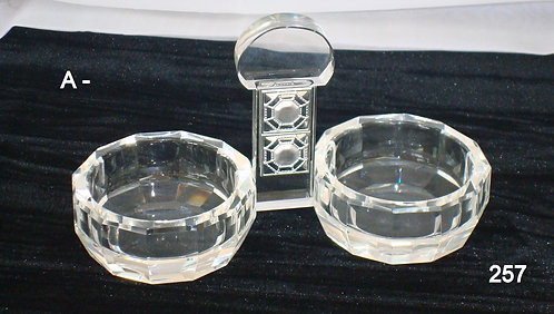 CLEAR GLASS SALT CELLAR