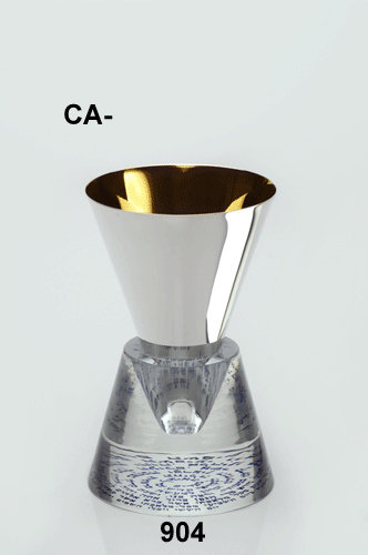 NICKLE AND PURE GOLD KIDDUSH CUP