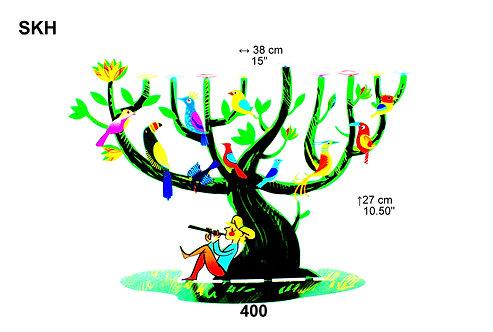 LAZER CUT TREE CHANUKIAH