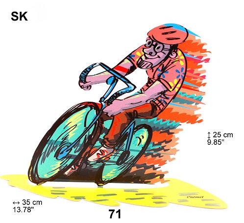 LAZER CUT BICYCLE RIDER