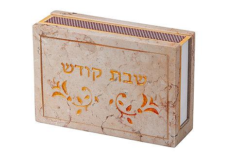 JERUSALEM STONE MATCHBOXES