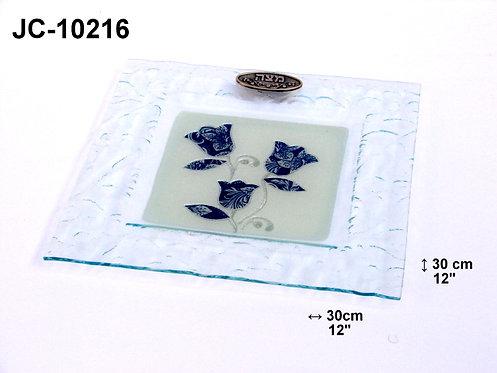 GLASS MATZAH PLATE