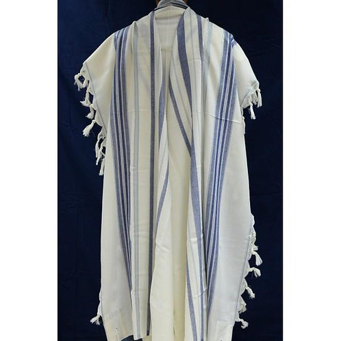 BLUE LIGHT BLUE SILVER BAREKET TALLIT