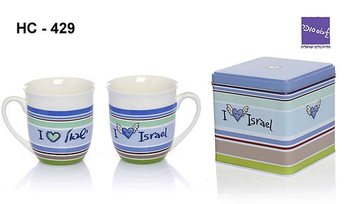 "PORCELAIN MUG ""I LOVE ISRAEL"""