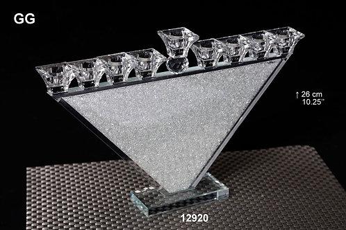 CRYSTAL/GLASS CHANUKIAH