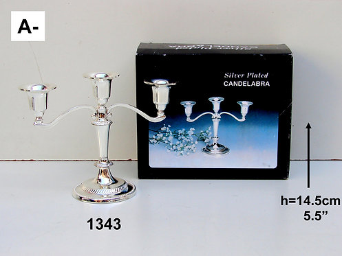 3 BRANCH SHABBAT CANDLESTICKS