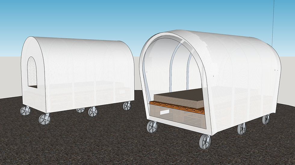 Covered Wagon Style Bed with Storage