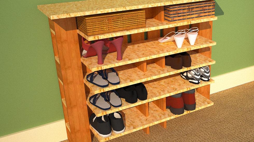 Shoe Shelf 44 x 36