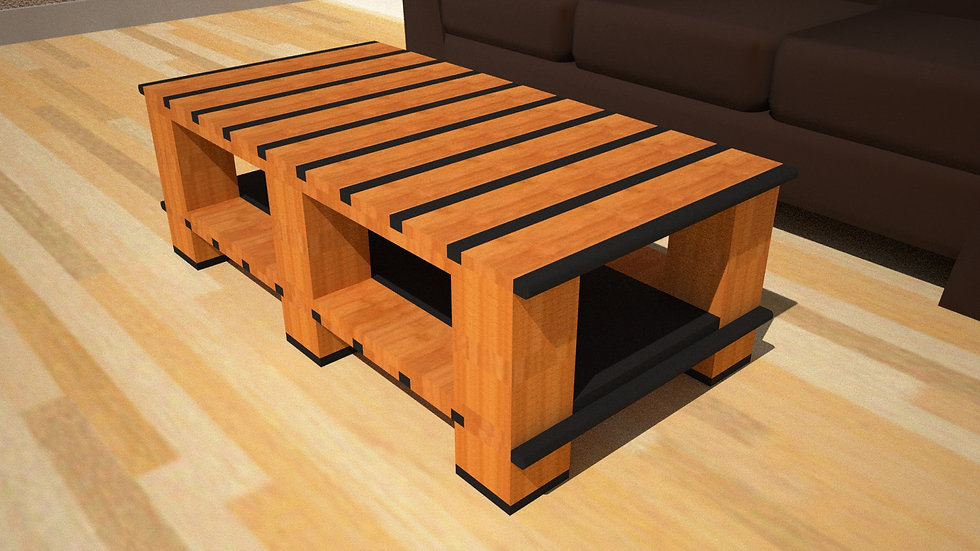 Tiger Stripe Coffee Table in 1x2 style