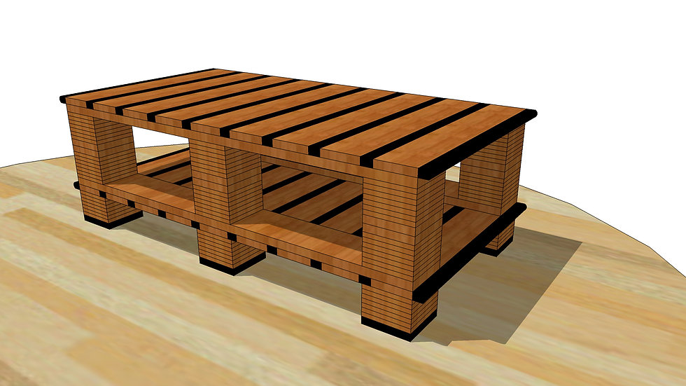Tiger Stripe Coffee Table in 2x2 style