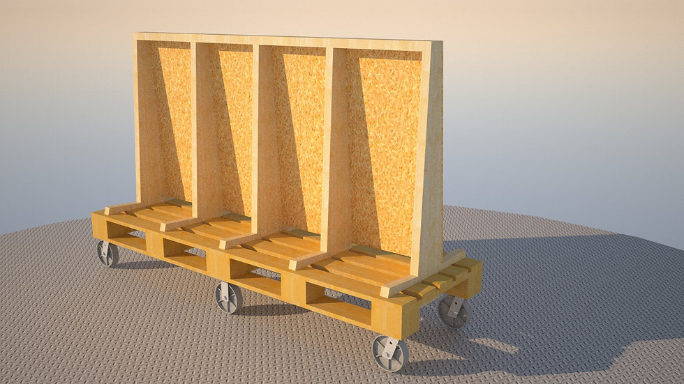 Long Version A Frame Glass and Plywood Gurney