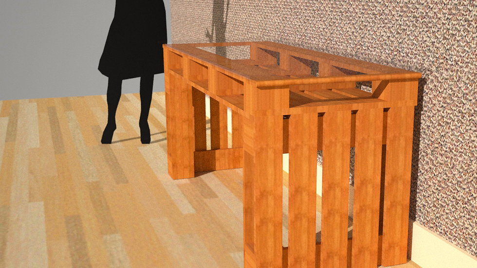 Desk Truss Style with Glass Top